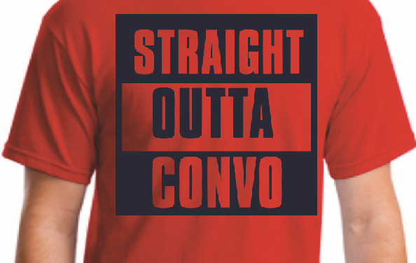 STRAIGHT OUTTA CONVO Shirts now available