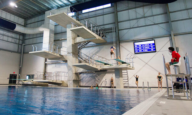 Diving platform collapses at Liberty's natatorium