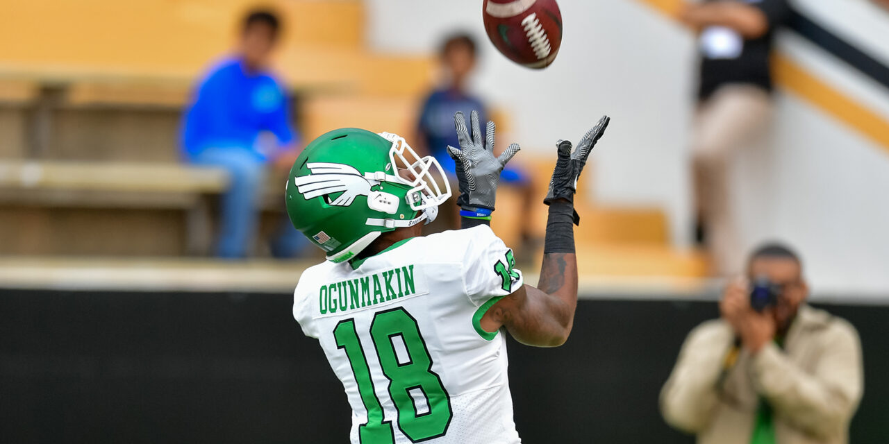 Liberty picks up a commitment from North Texas transfer WR Austin Ogunmakin