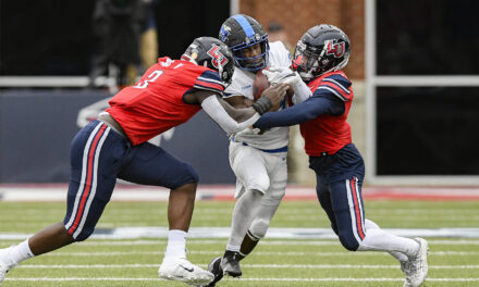 Liberty rolls to Homecoming rout of Middle Tennessee
